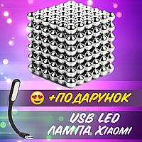 Игрушка-головоломка Neo Cub Silver Куб Магнит 216 шариков 5мм серебристый+ USB лампа