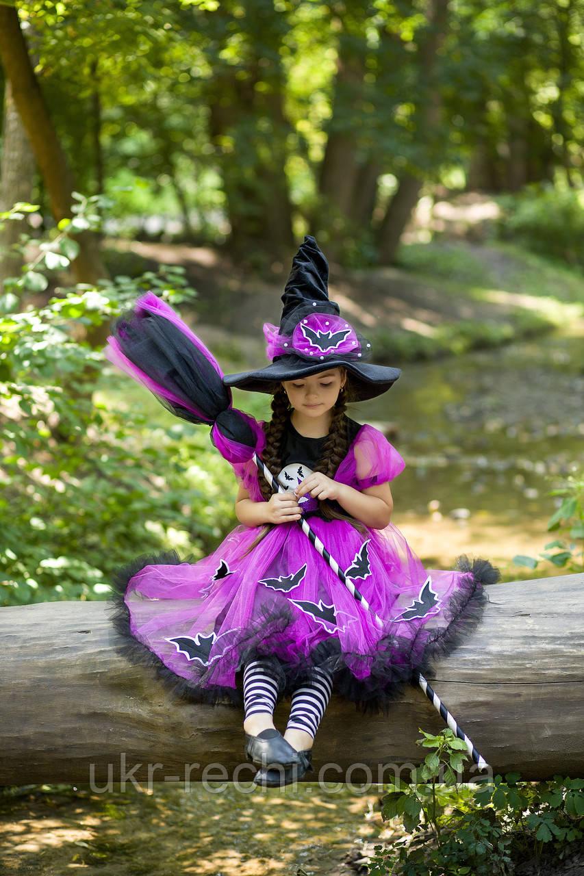 Дитячий карнавальний костюм Відьмочка для дівчинки на Хелловін