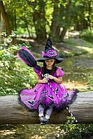 Дитячий карнавальний костюм Відьмочка для дівчинки на Хелловін, фото 1
