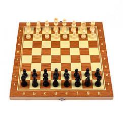 Настільна гра 3в1 шахи, шашки, нарди, 29х29см, дерево