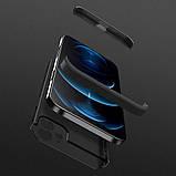 3D Чохол бампер 360° Iphone 12 протиударний + СКЛО В ПОДАРУНОК. Чохол айфон 12 КОЛІР чорний, фото 2