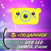 Фотоаппарат детский DVR Baby Camera X-500B 7692 желто-голубой медведь+ USB лампа
