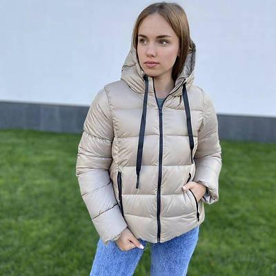 Куртка короткая осенняя женская дутая