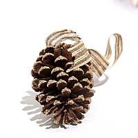 🔥 Распродажа! Новогодний декор Шишка натуральная с коричневыми блестками