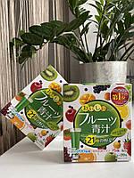 Аодзиру з молочнокислими бактеріями і ферментами з фруктовим смаком YUWA Aojiru Fruits (20 стіків), фото 1