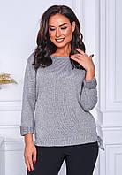 Ніжний жіночий в'язаний светр з люрексом, фото 1