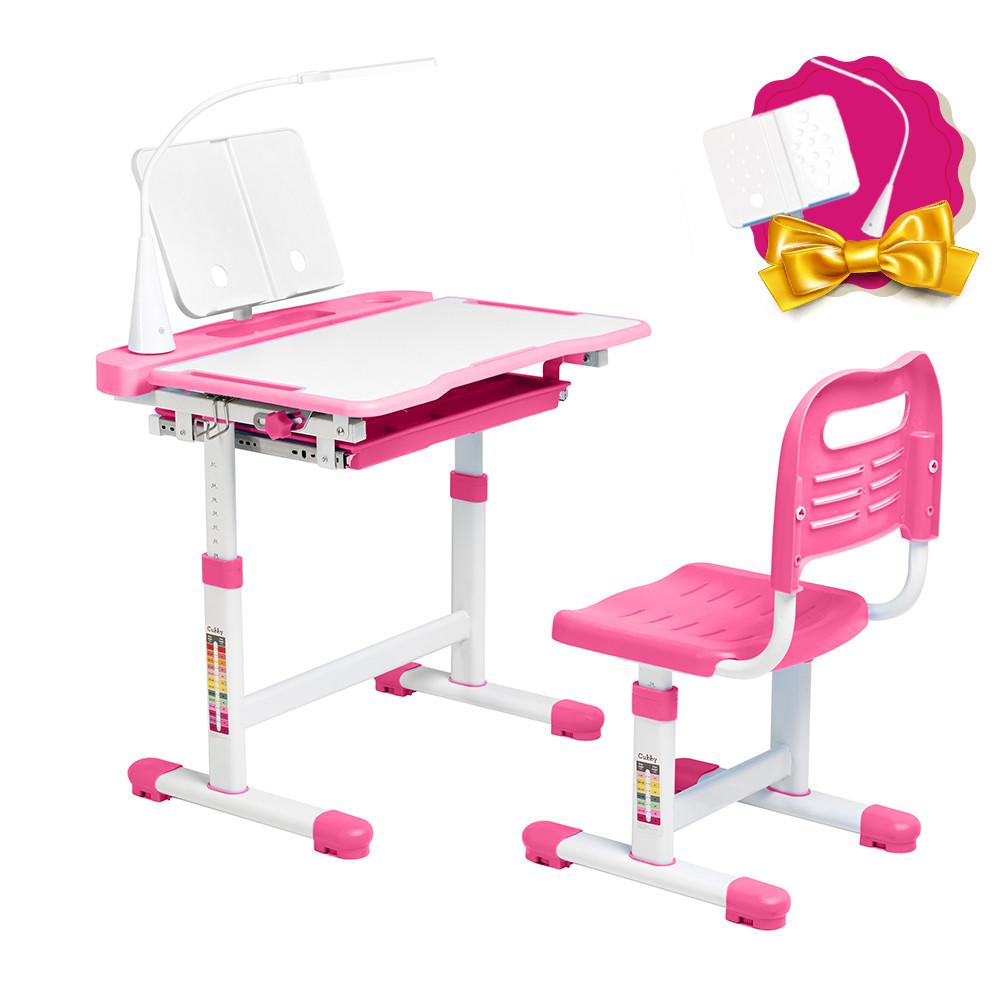 Ергономічний комплект Cubby парта і стілець-трансформери Vanda Pink