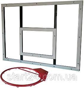 Щит баскетбольний тренувальний 800х1000мм (оргскло 10 мм) з кільцем і сіткою