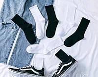 Носки 37-40 размер 6 пар высокие черные плотные хлопок 6 шт. комплект упаковка женские / мужские