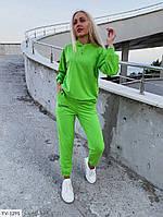 Прогулочный стильный женский спортивный костюм трикотаж двунитка на осень арт 10235, фото 1