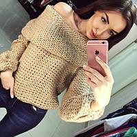 Шерстяной свитер с хомутом