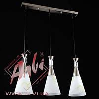 Люстра металлическая на тросах кухни, кабинета, прихожей 1730/3-17698