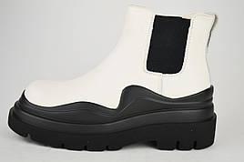 Ботинки Челси белые Berkonty 21809 38 кожа