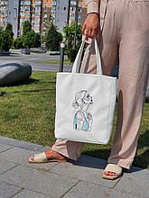 "Базова сумка ""Amber Fancy"" з вишивкою LineArt # 1, колір на вибір"
