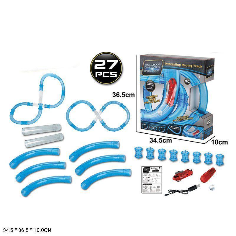 Автотрек трубопровідний 022-5 на р/у, 1 машинка, 27 елементів