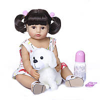 Кукла Реборн девочка Катя NPK оригинал 55см, силиконовая, можно купать