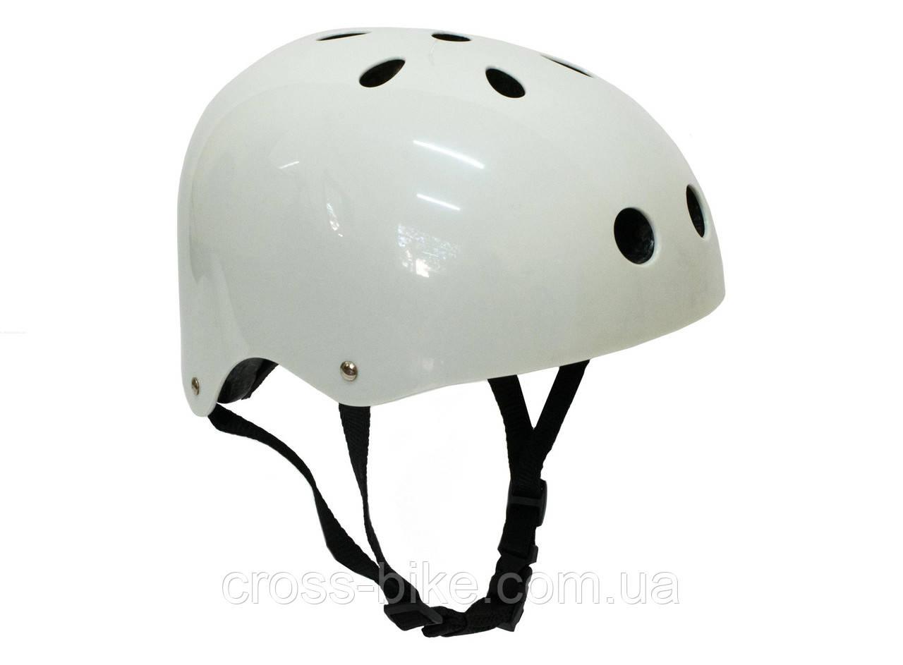 Шлем BMX six hole L, белый