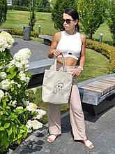 "Базова сумка ""Amber Fancy"" з вишивкою LineArt #2, колір на вибір"