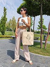 "Базова сумка ""Amber Fancy"" з вишивкою LineArt #3, колір на вибір"