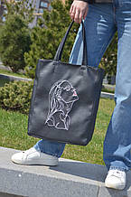 "Базова сумка ""Amber Fancy"" з вишивкою LineArt #6, колір на вибір"