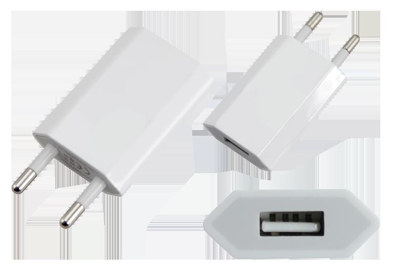 Переходник USB на 220 V + предохранитель заряжаемых устройств., фото 1