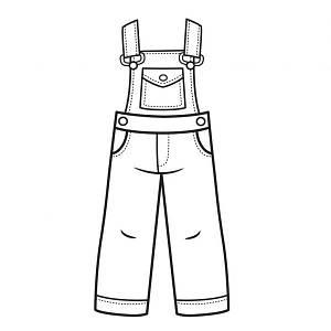 Дитячий джинсовий комбінезон для дівчинки