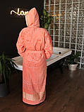 Махровий жіночий халат з капюшоном Рожевий турецького виробництва, бренд KAYRA розмір 46-50, фото 6