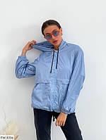 Модная женская куртка-ветровка на молнии с капюшоном, фото 1