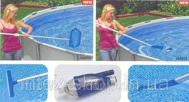 28003 Комплект для чистки бассейна Deluxe до 7 м (вакуумный пылесос)