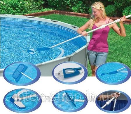 28003(Артикул 2013 года - 58959) Комплект для чистки бассейна Deluxe до 6 м (вакуумный пылесос) , фото 2