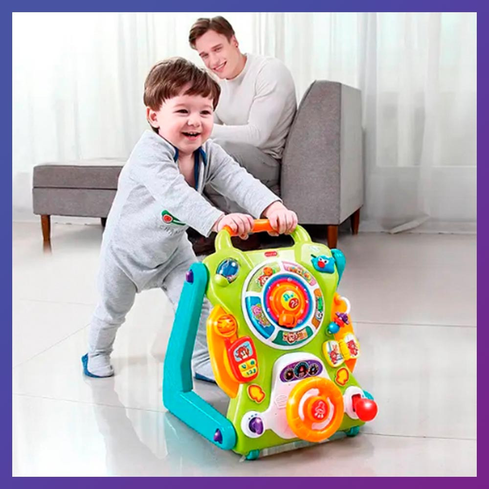 Детские ходунки-каталка 3 в 1 игровой центр с музыкальными эффектами 2107