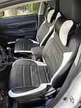 Чехлы на сиденья Джили МК Кросс (Geely MK Cross) модельные MAX-L из экокожи Черно-белый, фото 4