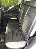 Чохли на сидіння Рено Сандеро (Renault Sandero) (модельні, MAX-L, окремий підголовник) Чорно-білий, фото 3