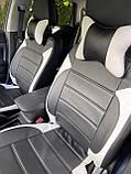 Чохли на сидіння Рено Сандеро (Renault Sandero) (модельні, MAX-L, окремий підголовник) Чорно-білий, фото 5