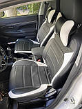 Чохли на сидіння Пежо 107 (Peugeot 107) (модельні, MAX-L, окремий підголовник) Чорно-білий, фото 4