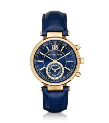 Часы Michael Kors Sawyer Gold-Tone And Embossed-Leather MK2425