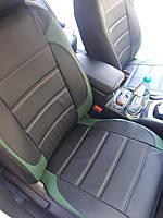 Чехлы на сиденья Ниссан Кашкай (Nissan Qashqai) модельные MAX-L из экокожи Черно-зеленый