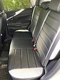 Чехлы на сиденья Митсубиси Паджеро Спорт с 2008 г. и т.д, модельные MAX-L из экокожи Черно-белый, фото 3