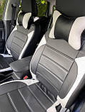 Чехлы на сиденья Митсубиси Паджеро Спорт с 2008 г. и т.д, модельные MAX-L из экокожи Черно-белый, фото 5