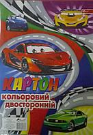 """Картон цветной двухсторонний ТОВ """"Скат"""" 8 листов, 8 цветов. А4"""