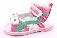 Детские кожаные босоножки (сандалии) B&G для девочек профилактические
