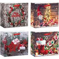 Пакет бумажный новогодний Stenson Magic L, 12шт/упак., TL00306-L