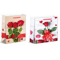 Пакет подарочный бумажный Stenson Roses 1 XL, 12шт/упак., 88590-XL
