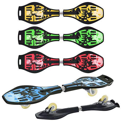 Скейт рипстик з міцною декою з ABS пластику, підвіска обертається на 360° для дітей від 7 років MS 0016 (4 види)