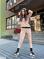 Модний молодіжний жіночий спортивний костюм утеплений трехнитка на флісі толстовка і штани арт 0102, фото 1