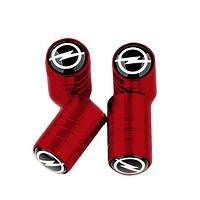 Ковпачки на ніпель з логотипом Opel Alitek Long Red Опель (4 шт)