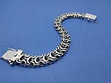 Серебряный браслет Рамзес коробочка, 22см., 33 гр., фото 2