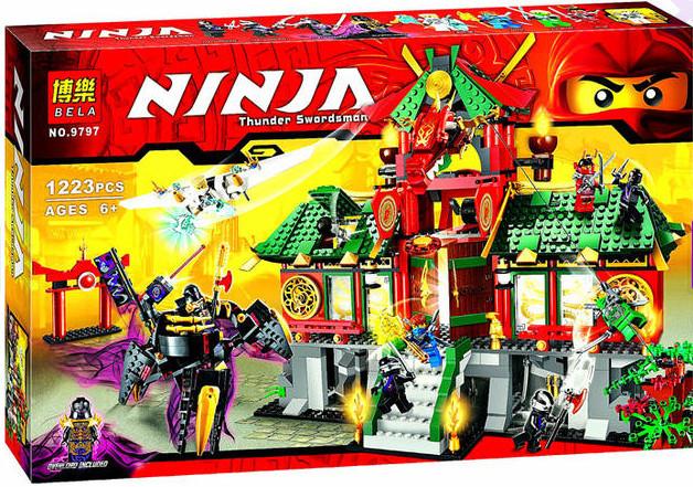 "Конструктор Bela Ninja 9797 ""Битва за город"" (аналог Lego Ninjago), 1223 дет."