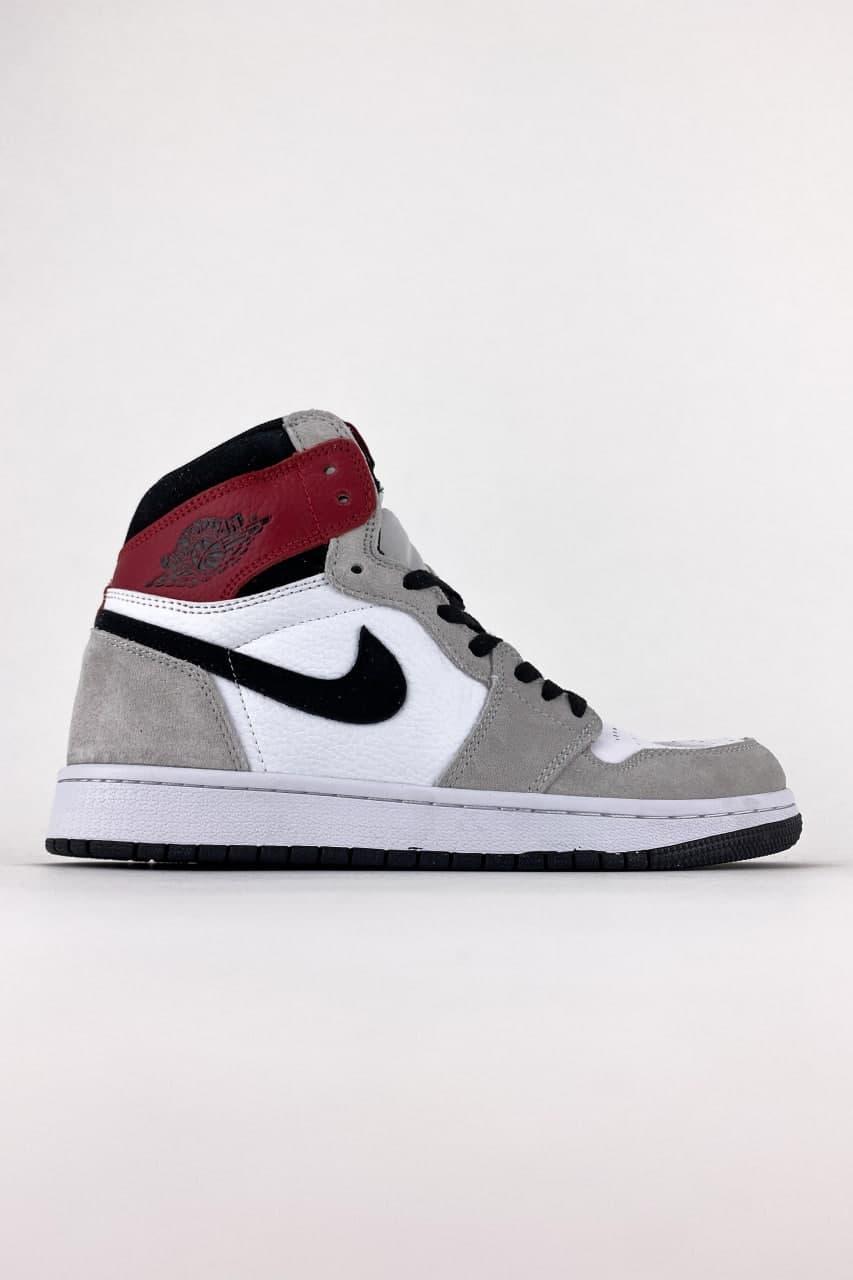Чоловічі кросівки Nike Air Jordan 1 Grey White (Сірий) C-2564 повсякденні демісезонні кроси