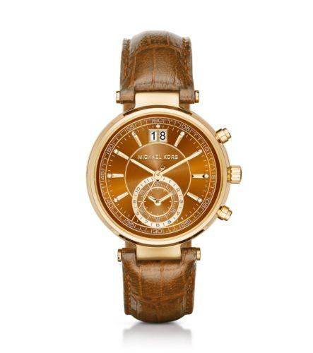 Часы Michael Kors Sawyer Brown Leather МК2424
